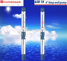6inch SR series,deep well multistage submersible water pump,AC energy