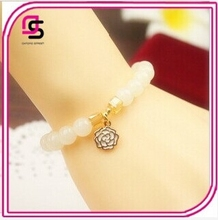 2015 Fashionable Japanese Prayer Beads White Crystal Bracelet with Three Character Eight