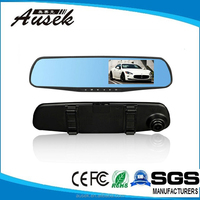 """New 4.3"""" Blue auto cars dvr parking recorder video 1080p wireless car front view camera"""