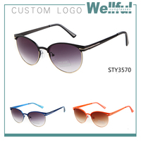 dropshipping taobao /alibaba low price of shipping wholesale sunglasses round logo2015