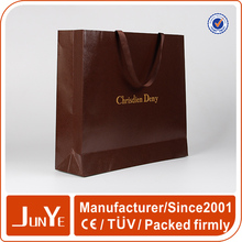 top grade garment apparel paper packaging bags with handles