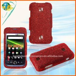 Red diamond bling case for HuaWei Ascend M860