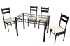 Best Sale Outdoor Dining Set Woven Rattan Furniture DS-813(1+4)