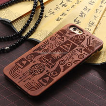 Fashion OEM Service Laser Engraving Mobile Phone Wood PC nature wood case for iphone 6 alibaba china
