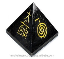 Black Agate Reiki Pyramid for healing and metaphysical use