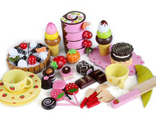 cutting strawberry breakfast 100%green paint wood pretend toys kids pretend play fruit toys cutting vegetables