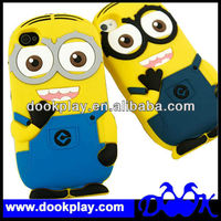 For iphone 5 5G 3D cute newest Despicable Me Minions Silicone Rubber Back case