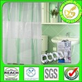 3d EVA extra larga doble cortina de ducha botín con hookless