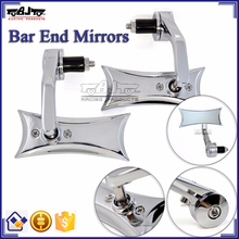 BJ-RM400-04 New Arrival Kawasaki Z1000 Chrome Billet Aluminum Handle Bar End Side Mirror Motorcycle