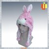 High quality warm soft adult funny plush animal hat for winter