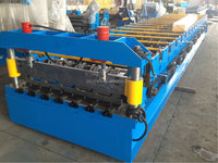 Trapezoidal Low Cost of Metal Roofing Cold Roll Forming Machine