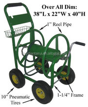 metal four wheel garden hose reel cart/small garden cart