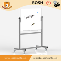 GB04 Business used high quality polished freestanding flexible magnet whiteboard