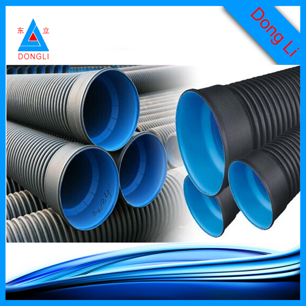 500mm sn8 hdpe double wall corrugated plastic pipes for for Buy plastic pipe