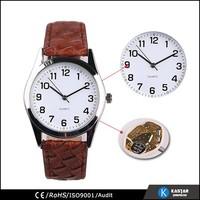 gift watch with crocodile strap watch pu strap watch