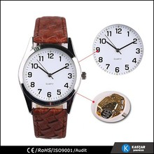 gift watch with crocodile strap watch pu strap watch