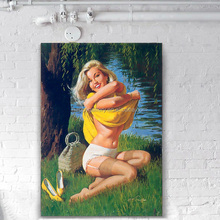 Canvas Support Base and Oil Medium beautiful girl oil paintings