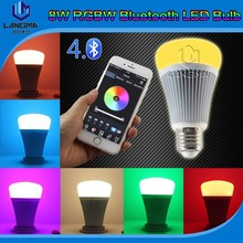 wireless E27 base smart led bulb bluetooth with smart mobile phone music/voice control led bluetooth bulb