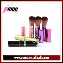 Top grade synthetic hair flat duo fiber emily makeup brush