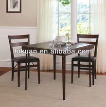 2015 modern square folding wood dinning table