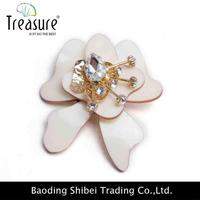 Oden Crystal designs brooch pin make fabric flower brooch