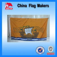 100D polyester screen printing lion sport fans flags