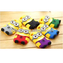 Various colors fashionable anime silicone 3D case for iphone 4s
