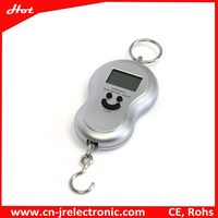 Hot Style Silver Portable Digital Fishing Scale cheap wholesale fishing tackle