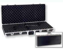 Solid black aluminum hard ABS leather gun cases