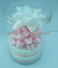 2014 Fashionable and Colorful Indoor Decoration Plastic Star Ribbon Bow and ribbon slot for gift decorations