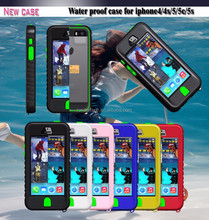 Multi colors unbreakable waterproof cell phone case for apple iphone 4 4s with keyboard