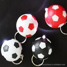 2015 unisex cute fashion gifts flash football small charms key rings for phone key bag decoration plastic cartoon LED key chains