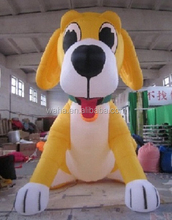 PROMOTIONAL CUSTOM inflatable MODEL/yellow/4M/13FT/400CM/DOG W511