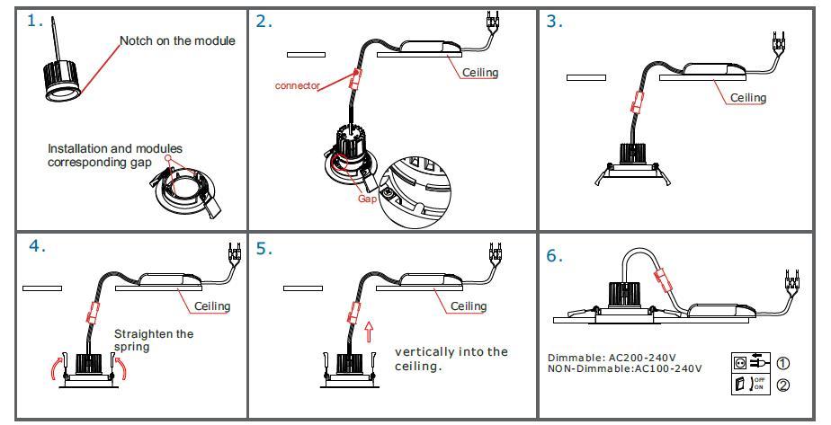 wiring diagram 240v led downlights wiring downlights installing rh 4 6 lm baudienstleistungen de