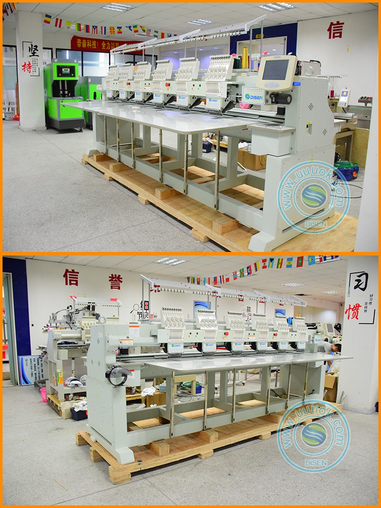 Industrial commercial chenille socks football boots shoes t shirt 3d snapback hat flat 6 head computer embroidery machine price