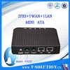 wholesale sip ata 2 FXS VoIP gateway with 2 ethernet port