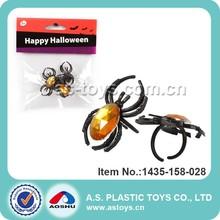 fiesta de halloween spider artículos con anillo de la joyería