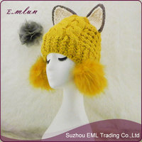 Korea Style Young Girl's Knitting String Hat