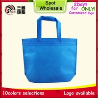 heat sewed non woven shopping bag with customer one colour printing