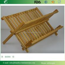 Bh006/cucina di bambù pieghevole piatto in ceramica e la tazza di vetro piatto stenditoio