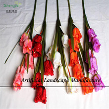 Sjnt15 tecido de alta qualidade decoração flores artificiais tulipas