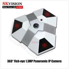 Skvision 1.3 megapíxeles cámara ip panorámica con 360 grados de sensor de movimiento