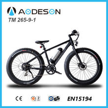 powerful fat tyre electric bike/bicycle, sport ebike TM265-9-1 with lithium battery made in China