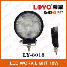 Promotion LED lights rock bottom auto parts 18w LED working light 18w LED truck lights