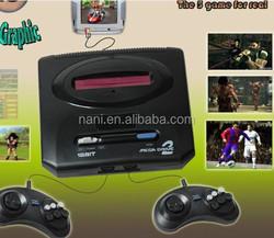 2015NEW!16 BIT retro game MD Genesis SEGA Video Game console,16 bit tv game console