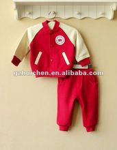 mom and bab 2012 Autun baby clothing set 100% cotton jacket pants