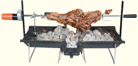 Portable grate height adjustable bbq grill with foldable legs