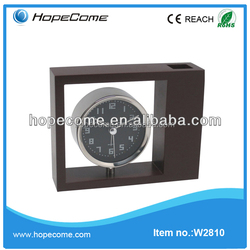 (W2810) Classic Pen function clock by wood