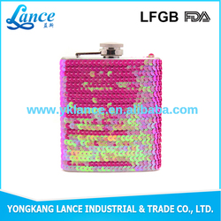 Yongkang factory supply hip flask with leather cover best gift for bussiness men
