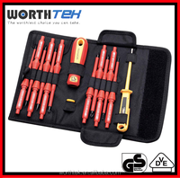 14Pcs insulated vde 1000v Interchangeable Screwdriver set special hand tools
